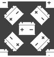 Car battery web icon flat design seamless gray vector