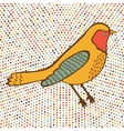 Colorful bird on dotted background vector