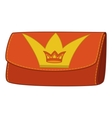 Wallet with crown emblem vector