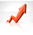 3d growth arrow vector