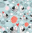 Texture of love birds vector