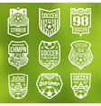 Soccer emblems vector