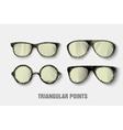 Triangular sunglasses vector