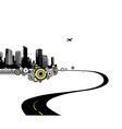 Road to city art vector