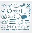 Collection of hand drawn highlighter elements vector