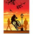 Bike ride in park vector