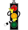 Cartoon red traffic light vector