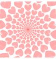 Design doodle red heart spiral movement background vector