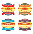 Hotdog bun label set vector