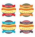 Hotdog bun label set vector