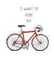 Bicycle red vector