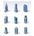 Isometric buildings skyscrapers vector