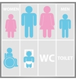 Toilet sign with toilet men and women wc vector