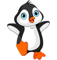 Cartoon baby penguin vector