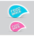 Paper feedback icons isolated on grey background vector