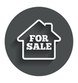 For sale sign icon real estate selling vector