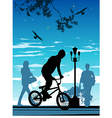 Bike riding silhouette vector