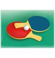 Tennis rackets and tennis ball vector