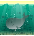 A whale in the sea vector