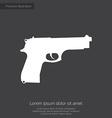 Gun premium icon white on dark background vector