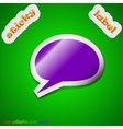 Speech bubble icon sign symbol chic colored sticky vector