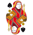 Queen of spades no card vector