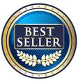 Best seller blue label vector