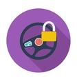 Car steering wheel flat icon vector