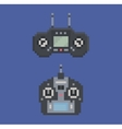 Pixel art style of remote control radio controller vector