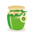 Jar of apple jam vector