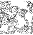 Black swirls on a white background vector
