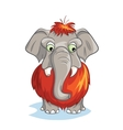 Cartoon image of a baby mammoth vector