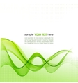 Green smoke wave abstract background vector
