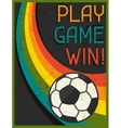 Play game win retro poster in flat design style vector