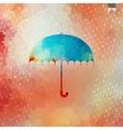 Umbrella and rain drops eps 10 vector