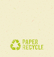 Cream paper recycle design background vector