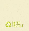 Cream paper recycle design background vector