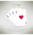 Four aces hand composition in realistic and clean vector