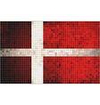 Abstract mosaic flag of denmark vector