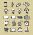 Icons hand drawn 1 vector