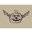 Hand drawn halloween pumpkin vector