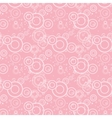 Seamless texture of pink circles and flowers vector