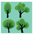 Four trees vector
