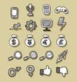 Icons hand drawn 2 vector