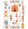 Circus in town vector