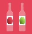 Wine label with modern design vector
