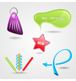 Design elements icon set for print or web vector