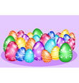 Easter egg card vector