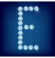 diamond alphabet letter e vector