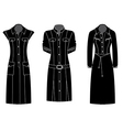 Woman dress silhouette vector